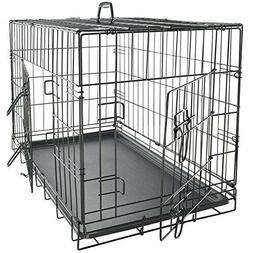 "Small 24"" Metal Dog Cage Crate Foldable Portable 24.5×16."