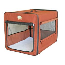 Pet Crate For Small Dog Brown Soft Side Travel Cage Kennel S