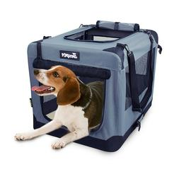 Jespet Soft Dog Crates Kennel for Pets, 3- Door Indoor/Outdo