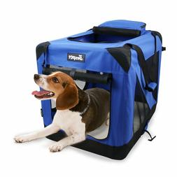 Jespet Soft Dog Crates Kennel for Pets, 3- Door Indoor/Outdo