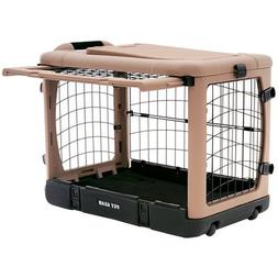 """The Super Dog Crate Large 42"""" tan/black by Pet Gear"""