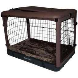 Pet Gear The Other Door Chocolate Steel Crate With Pad Crate