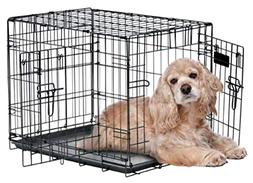 Two Door Wire Dog Crate With Precision Lock System Rust Resi