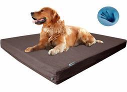 Waterproof Memory Foam Pet Bed Durable Denim for Medium Extr