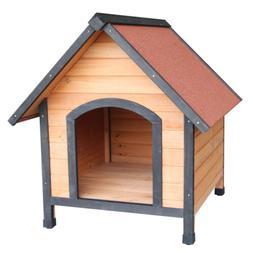 Wooden Cat Shelter House Dog Puppy Garden Wood Den Kennel Cr